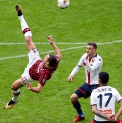 Soccer: serie A; Ac Milan vs Genoa