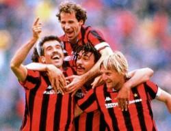 Con Virdis, Gullit e Angelo Colombo
