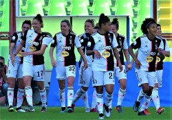 during the Italian Supercup match between Juventus Women and Fiorentina Women on October 27, 2019 in Cesena, Italy.