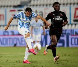 Soccer: Serie A ; S.P.A.L - Milan