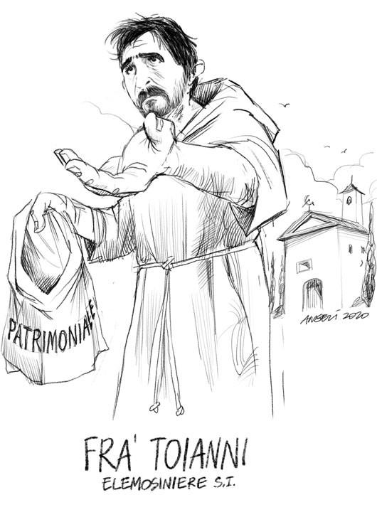 Nicola Fratoianni (Sinistra Italiana) nei pannidi Fra'.Toianni, frate francescano