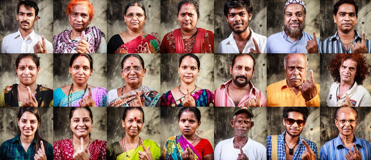 I votanti di Mumbai di Nishant Shukla/Fabrica