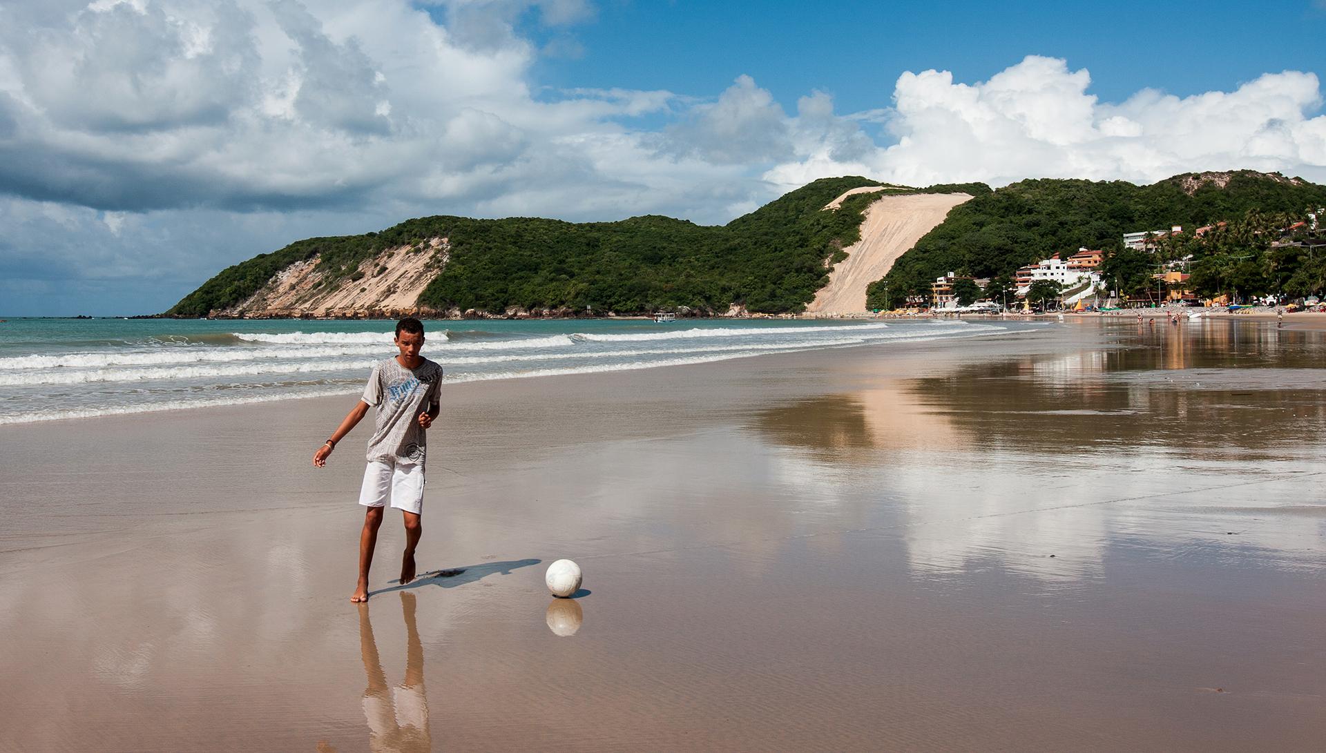La spiaggia di Ponta Negra e il Morro do Careca a Natal, Rio Grande del Nord