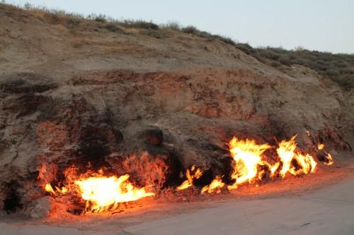 Yanar Dagh, i fuochi spontanei con il gas dal sottosuolo