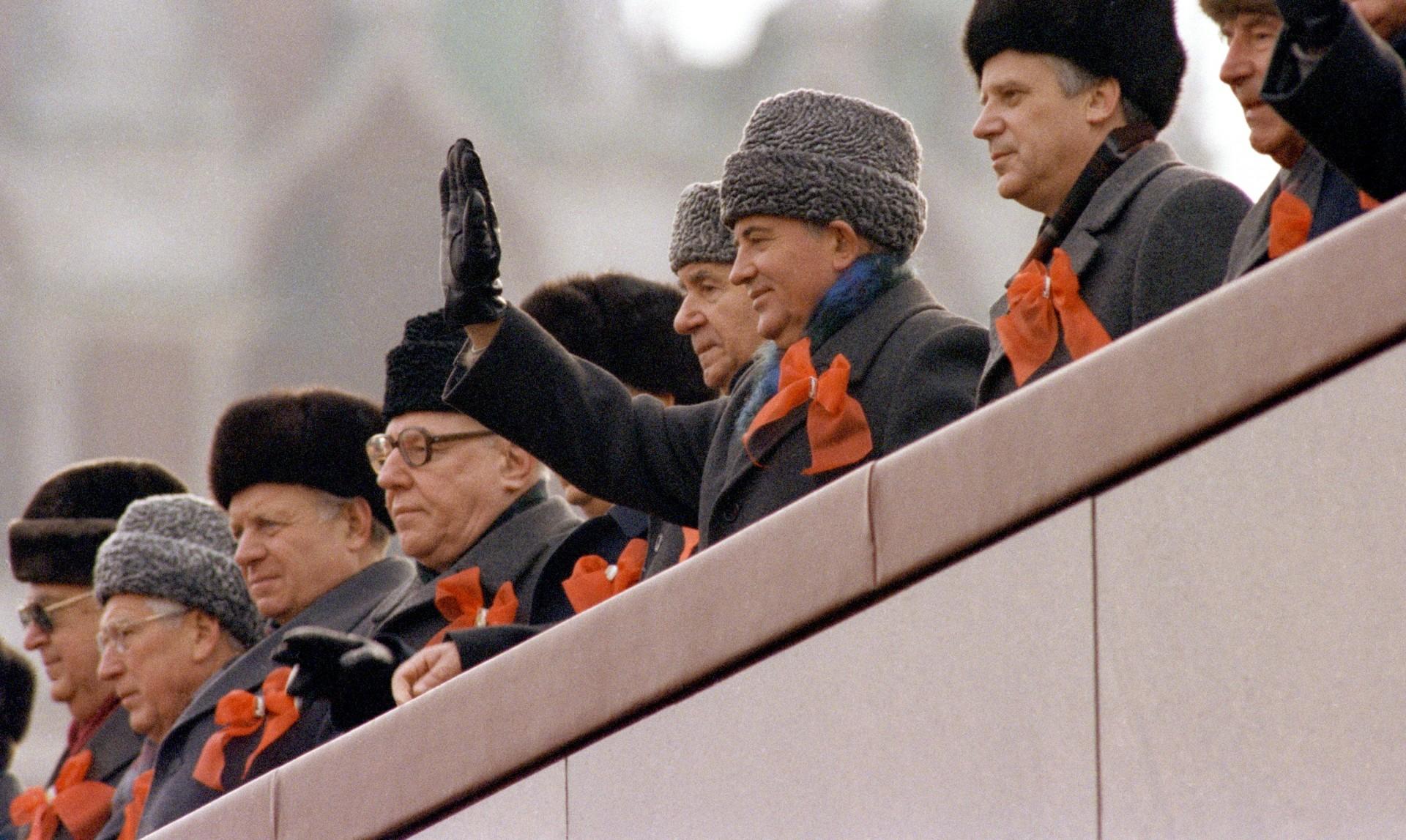 Mikhail Gorbachev and  Andrei Gromyko