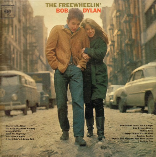 La copertina di The Freewheelin', disco di Bob Dylan del 1963