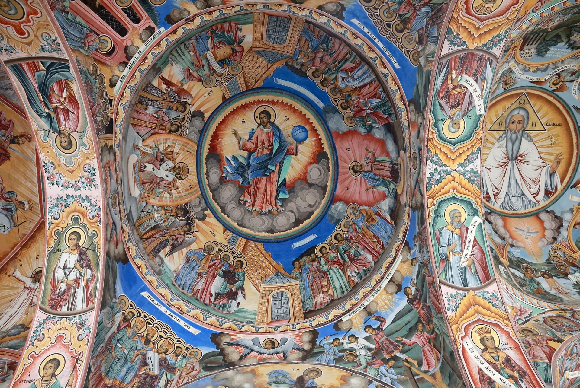 Rila (Bulgaria) - Gli affreschi del monastero del X secolo, patrimonio dell'Unesco (Tony Vece, Ag. Lara)