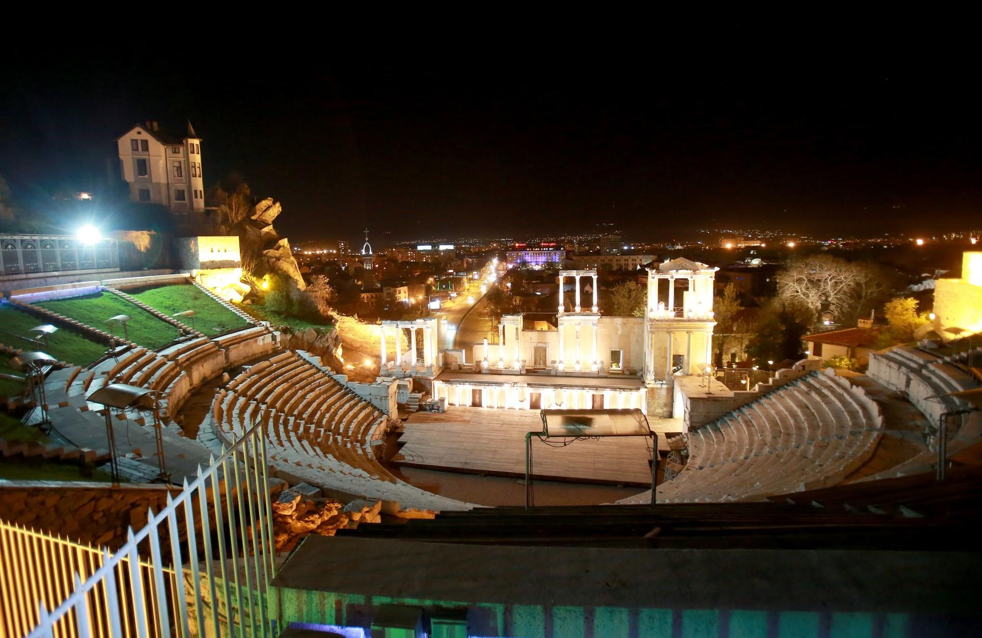 APRILE 2015 - PLOVDIV (BULGARIA). Il teatro romano (II sec. d. C.). Tony Vece. Ag Lara