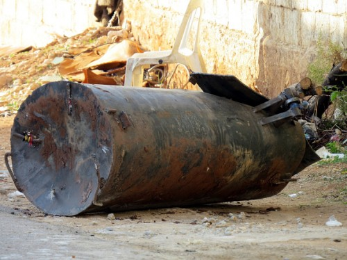 Unexploded barrel bomb found in Hama city of Syria