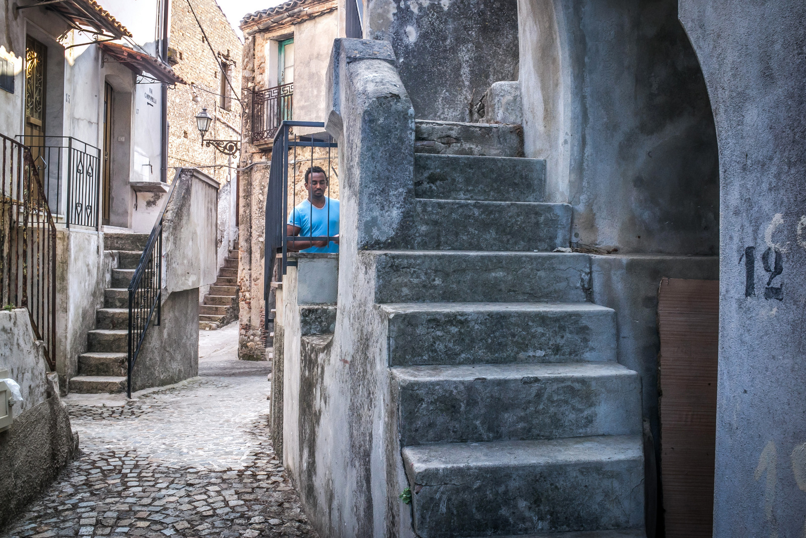 A migrant of historical center of Riace