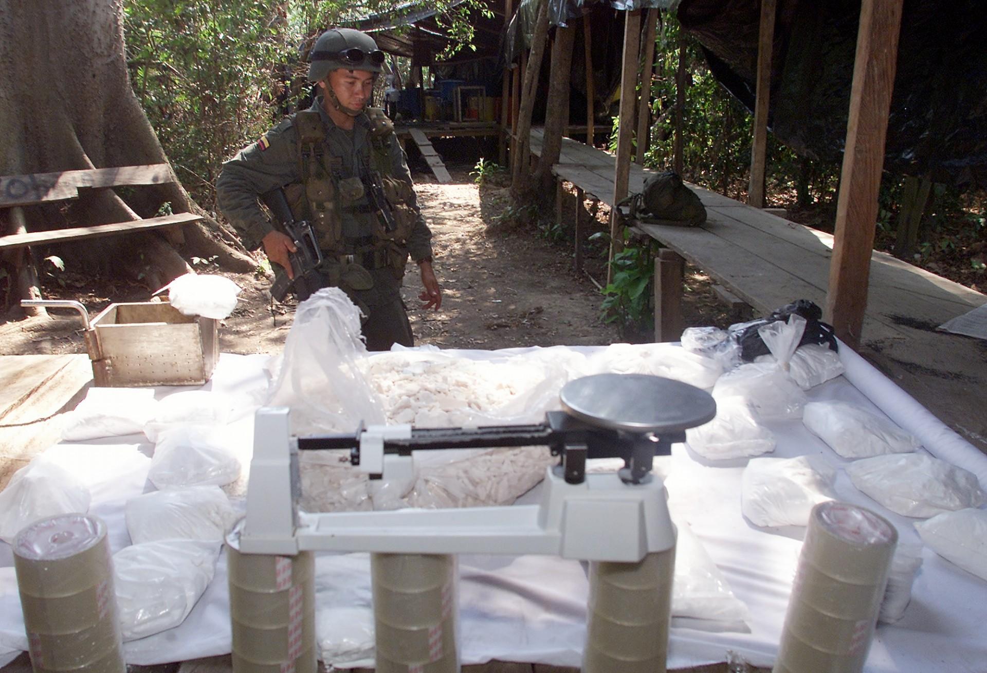 Laboratorio clandestino di coca a San Martin, in Colombia