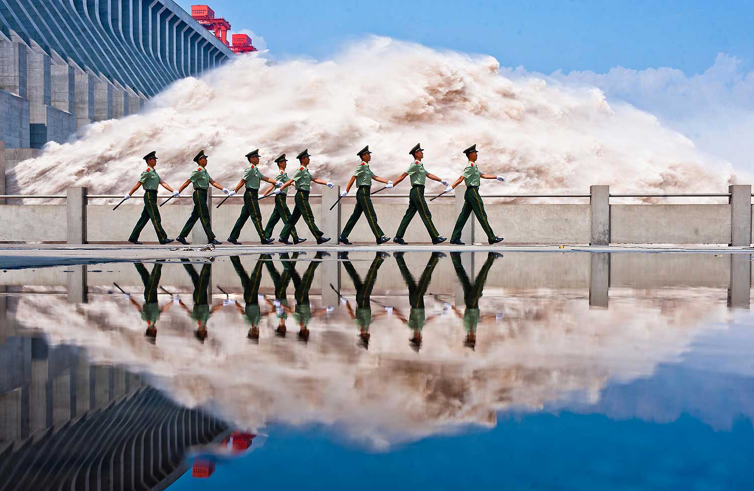 Image: Three Gorges Dam Reaches Flood Peak
