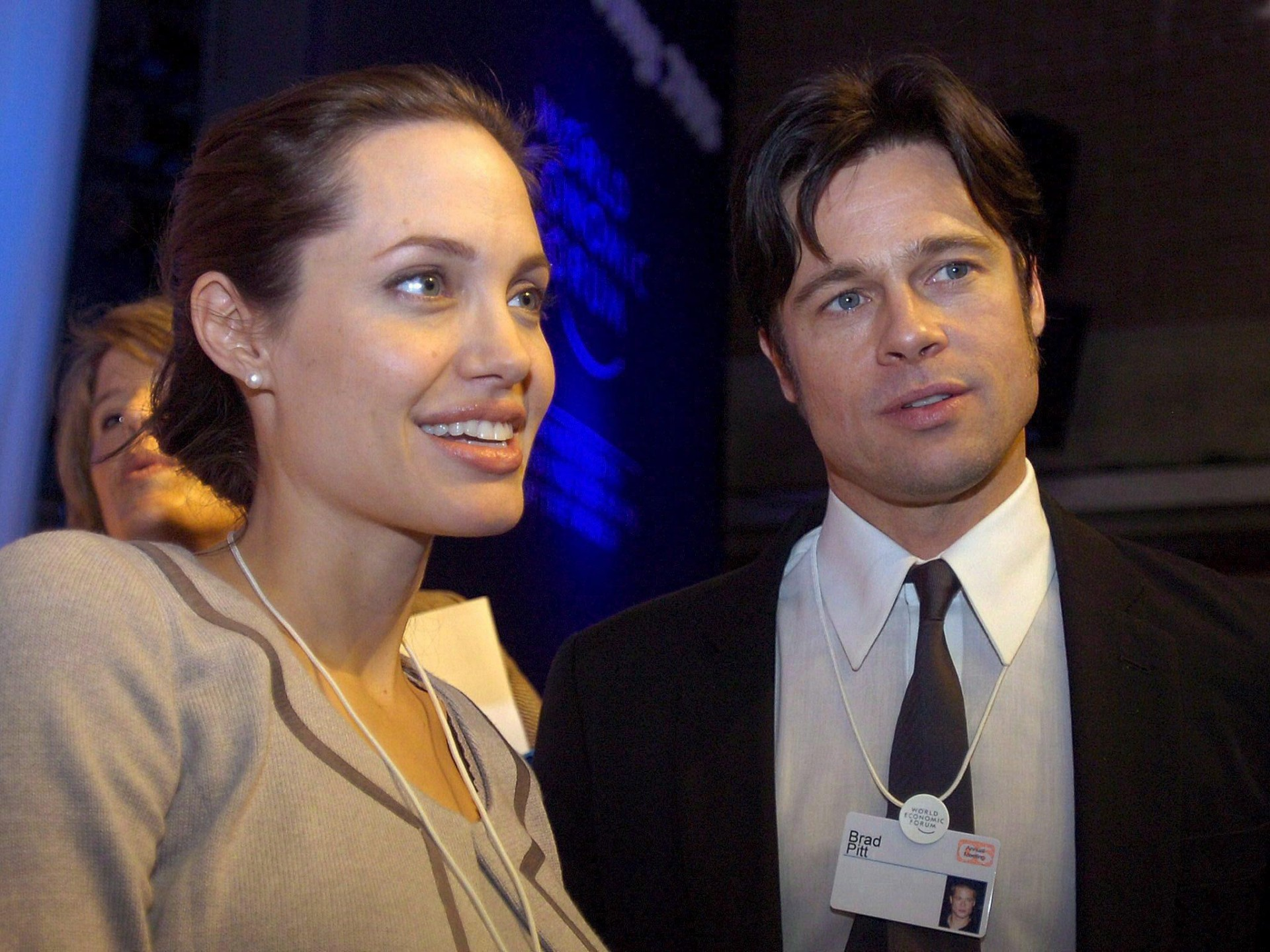 epa05549357 (FILE) The file picture dated 26 January 2006 shows United Nations High Commissioner for Refugees (UNHCR) Goodwill Ambassador, US actress Angelina Jolie (L) and her companion fellow actor Brad Pitt (R) during the World Economic Forum WEF in Davos, Switzerland. According to media reports from 20 September 2016, Angelina Jolie filed for divorce from her husband Brad Pitt, as her lawyer confirmed. EPA/WALTER BIERI