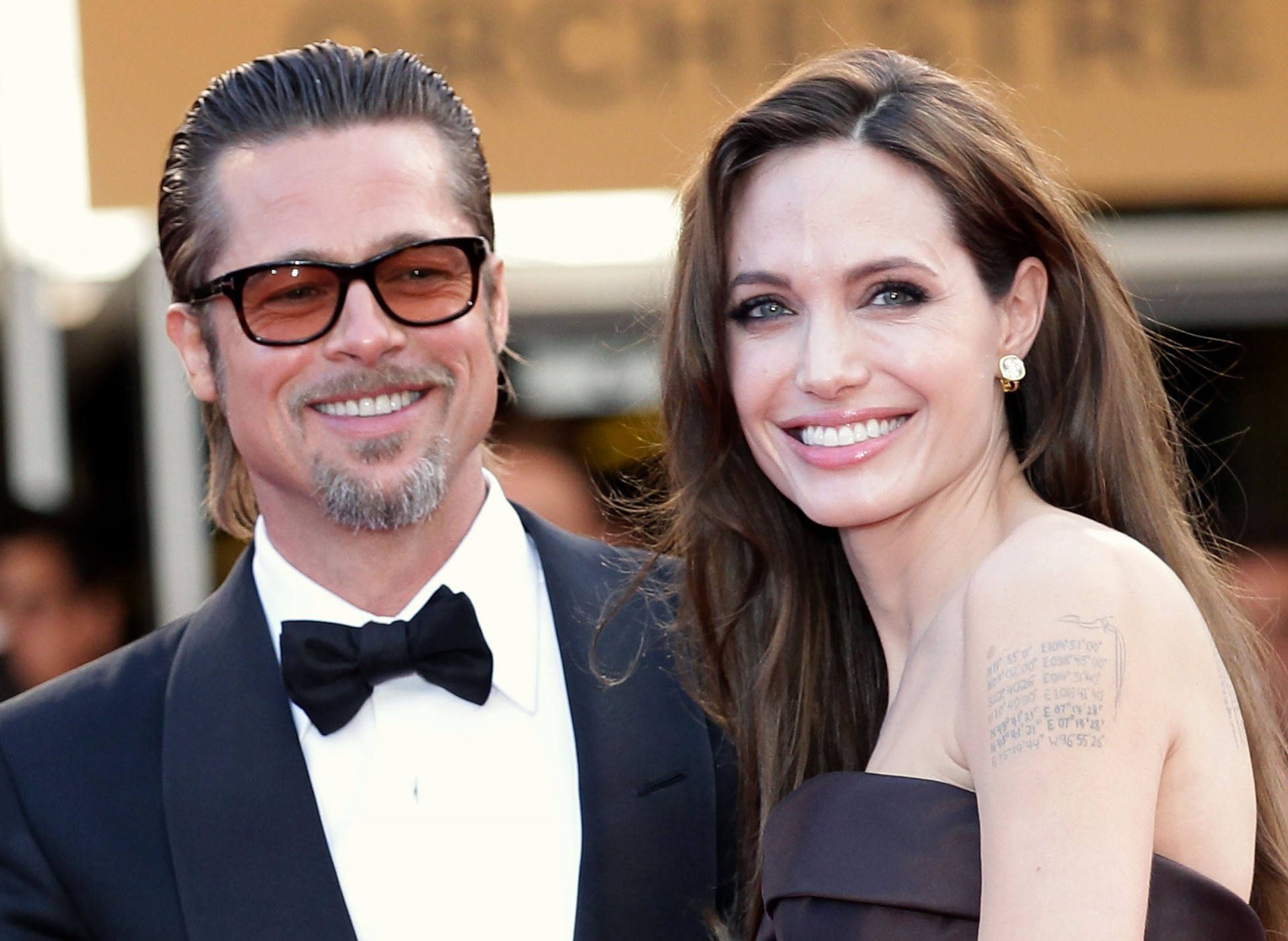 "(FILE PHOTO) Angelina Jolie And Brad Pitt Reported To Have Married At The Weekend In France CANNES, FRANCE - MAY 16: Angelina Jolie (R) and Brad Pitt attend ""The Tree Of Life"" premiere during the 64th Annual Cannes Film Festival at Palais des Festivals on May 16, 2011 in Cannes, France. (Photo by Andreas Rentz/Getty Images)"