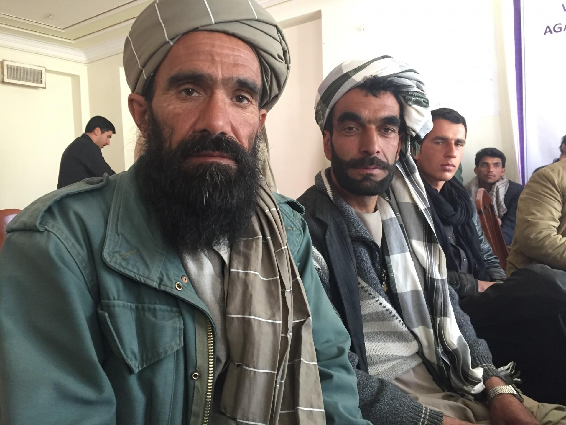 I capi villaggio riuniti con le Ong italiane Gvc e InterSos a Herat