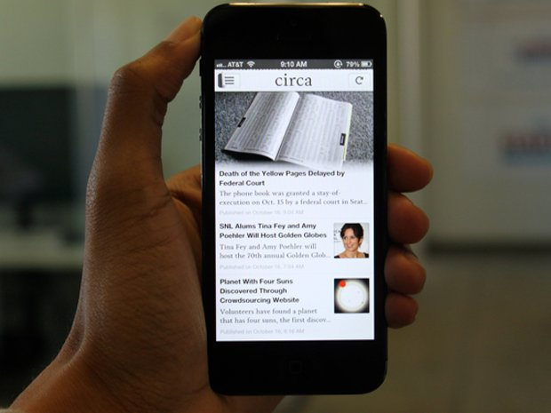 L'interfaccia mobile di Circa News App