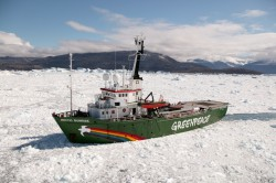 MY Arctic Sunrise on Greenland Tour 2005