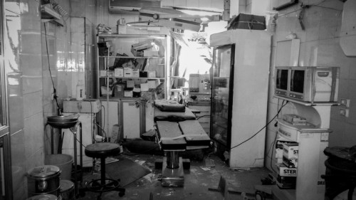 Heavy damaged sustained by al-Bayan hospital in July
