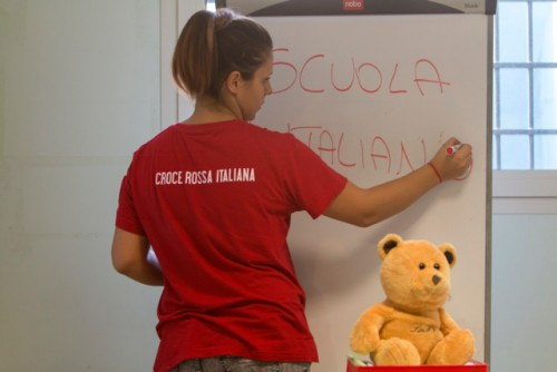 the red Cross of Milan provides accomodation and supply item to hundreds of asylum seekers hosted in specific centres in the city.