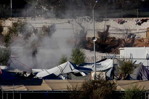 On 19 September 2016, a large fire caused extensive damage to Moria detention centre on the Greek island of Lesvos. The fire destroyed tents and housing units, and left many children and families without a place to sleep. Unaccompanied children detained within the camp were relocated to another shelter nearby. The fire started after a peaceful protest in response to the rejection of a family's asylum application. Many of the protesters were demanding better living conditions in the camp and access to asylum services. An increase in the number of refugees and migrants arriving on the islands over the past few months, combined with limited movement to the mainland, means there are now more than 13,600 refugees and migrants stranded on the islands. In Lesvos alone, there are 5,708 refugees and migrants, yet facilities there can only host 3,500. In response to the fire in Moria, Save the Children distributed dry foods to the evacuated migrants and refugees, and supplied partners with blankets and water for them to distribute. Save the Children has been providing assistance to children and adults in Greece since August 2015. We have operations across key locations in Greece: on the islands of Lesvos, Chios, Samos, Leros and Kos, and on the mainland in the Attika region and in Northern Greece.