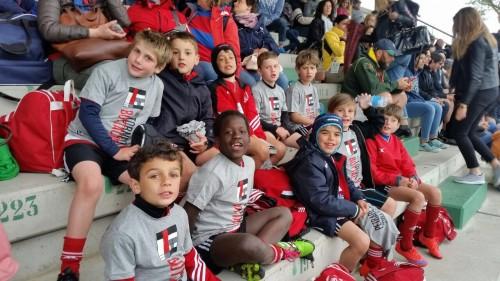 In tribuna per le finali dopo le fatiche del torneo: l'Under 8 della Asr Rugby Milano