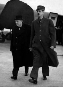 De Gaulle con Churcill (Ap)