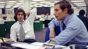 Bernstein e Woodward in redazione ai tempi del Watergate