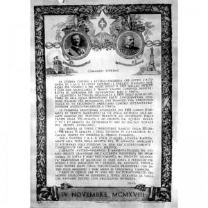 Il bollettino della vittoria italiana nel 1918