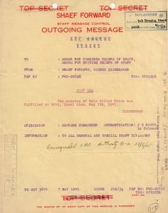 Il mkessaggio di Eisenhower ai capi alleati