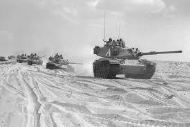Carri armati israeliani durante la guerra dello Yom Kippur