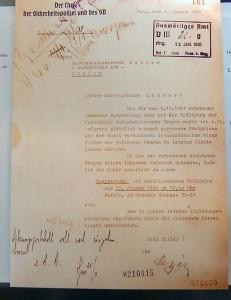 La lettera di invitop di Reinard Heydrich a uno dei partecipanti di Wannsee