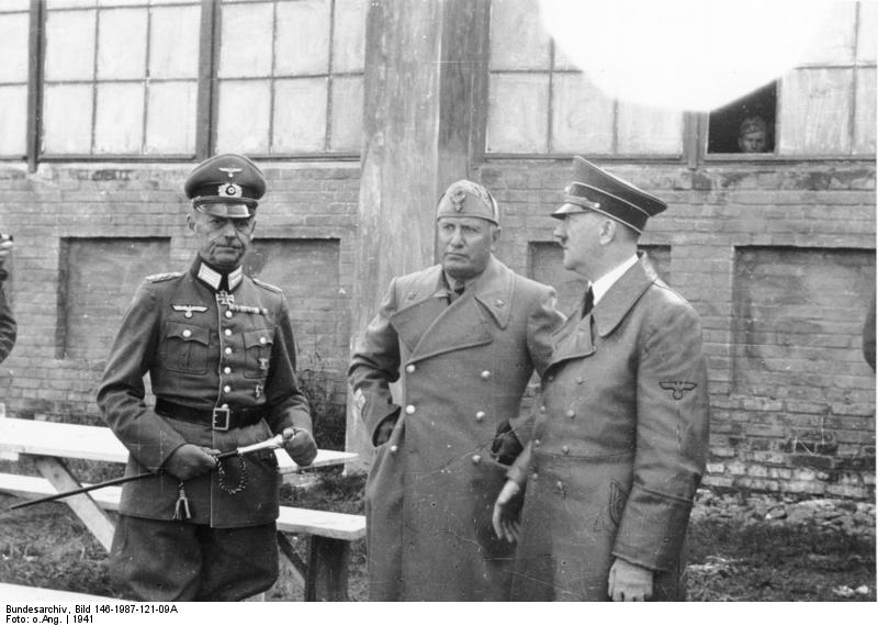 Il feldmaresciallo Von Rundstedt, Mussolini e Hitler in Russia