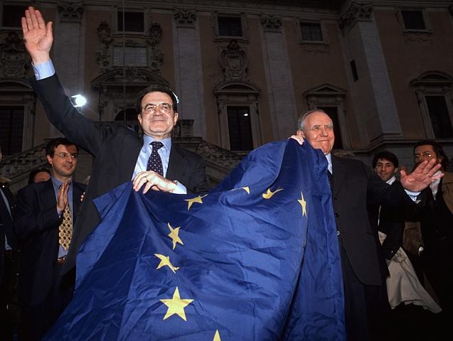 Romano Prodi e Carlo Azeglio Ciampi: 1998, l'Italia è nell'euro