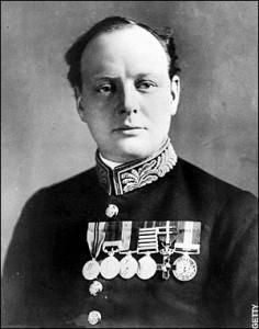Churchill in divisa da Primo Lord dell'Ammiragliato