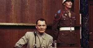 Hermann Goring al processo di Norimberga