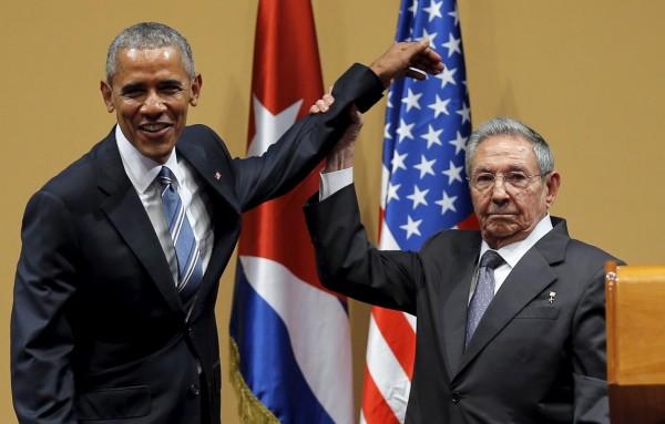 Obama e Raul