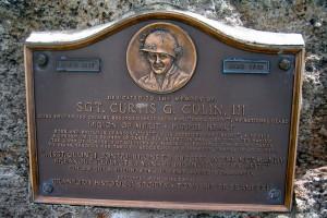 Una lapide dedicata alla memoria di Culin nella città natale di Cranford