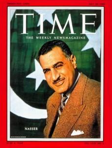 Gamal Abdel Nasser sulla copertina di Time