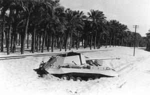 Una cannone semovente egiziano abbandonato nel Sinai