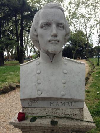 Il busto di Goffredo Mameli al Gianicolo