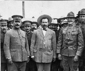 general-alvaro-obregon-general-francisco-villa-and-general-john-j-black-jack-pershing-patton-is-over-pershings-shoulder-953