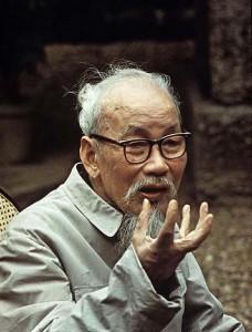 Il leader nord vietnamita Ho Chi Minh in una foto del 1969 (da Filckr)