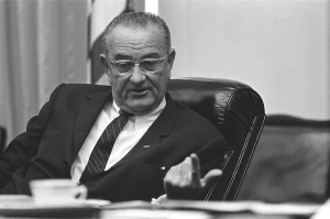 il pesidente Lyndon Johnson (da Wikimedia)