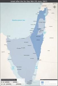 Israele dopo la guerra dei Sei giorni (fonte Idf)
