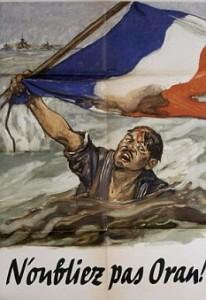 Un volantino di propaganda francese di Vichy sui fatti di Mers El Kebir (dal Daily Mail, foto di Roger Viollet/Getty Images)