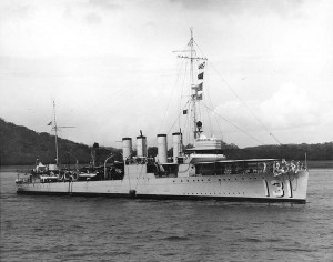 Il Campbeltown quando ancora si chiamava Buchanan ed era in forza alla US Navy (Wikimedia)