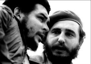 "(FILES) This file photo taken in the 60s shows then Cuban Prime Minister Fidel Castro (R) while talking with Argentine guerrilla leader Ernesto Che Guevara. Cuban revolutionary icon Fidel Castro died late on November 25, 2016 in Havana, his brother, President Raul Castro, announced on national television. / AFP PHOTO / CUBADEBATE / ROBERTO SALAS / RESTRICTED TO EDITORIAL USE - MANDATORY CREDIT ""AFP PHOTO/ROBERTO SALAS/CUBADEBATE"" - NO MARKETING NO ADVERTISING CAMPAIGNS - DISTRIBUTED AS A SERVICE TO CLIENTS"