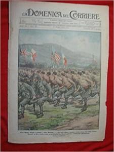 La sfilata di un reparto di arditi sulla copertina della Domenica del Corriere