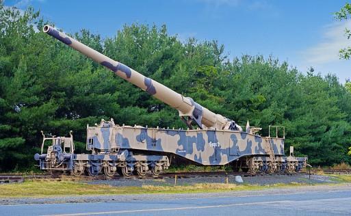 Il cannone ferroviario «Anzio Annie» (da Wikimedia)