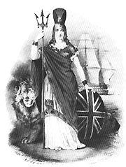 Un'immagine allegorica della Britannia dominatrice dei mari (da Wikimedia)